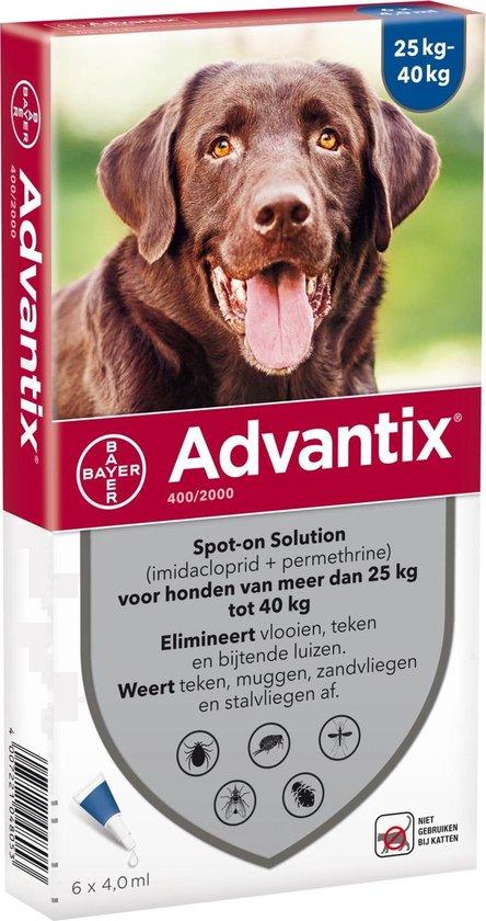 Advantix - Spot on - Voor honden van 25 tot 40 kg