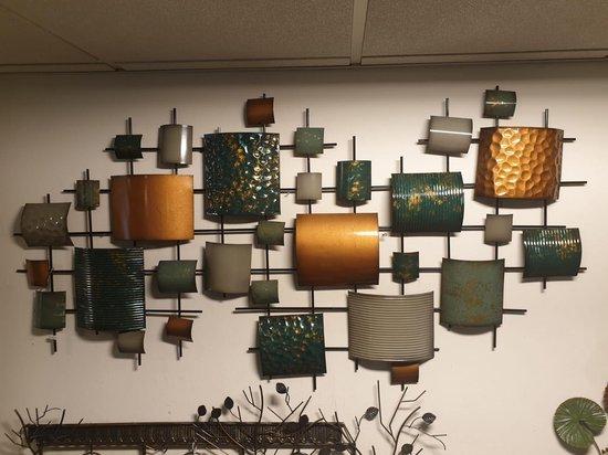 Grote 3D Metaal Schilderij Wanddecoratie-Geometric images Geometrische figuren abstract