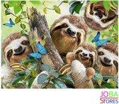 "Diamond Painting ""JobaStores®"" Luiaards - volledig - 30x40cm"