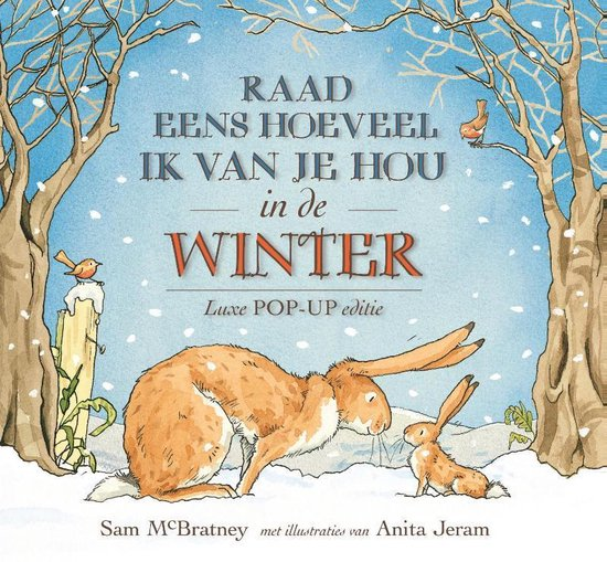 Boek cover Raad eens hoeveel ik van je hou in de winter van Sam McBratney (Hardcover)