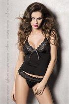 Passion woman sets - lingerieset - zwart - top - string - XXL|XXXL / sex / erotiek toys