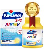 Davitamon Junior 3+ kauwvitamines - banaan - multivitamine - 120 tabletten