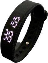 Styletics steps fitness tracker zwart- Stappenteller- Calorieteller- Sport horloge