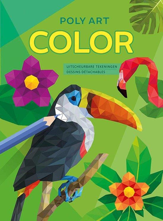 Afbeelding van Deltas Poly Art Kleurboek 28 X 20,5 Cm 48 Pagina's