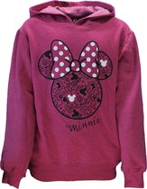 Minnie Mouse Minnie Mouse Trui Sweater met Capuchon Donker Roze N.v.t. Unisex Hoodie Maat 122/128