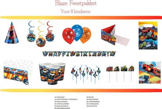 Blaze  en de monsterwielen Feestartikelen | Blaze Feestversiering | Geschikt voor 8 kinderen| 77 delig Feestpakket