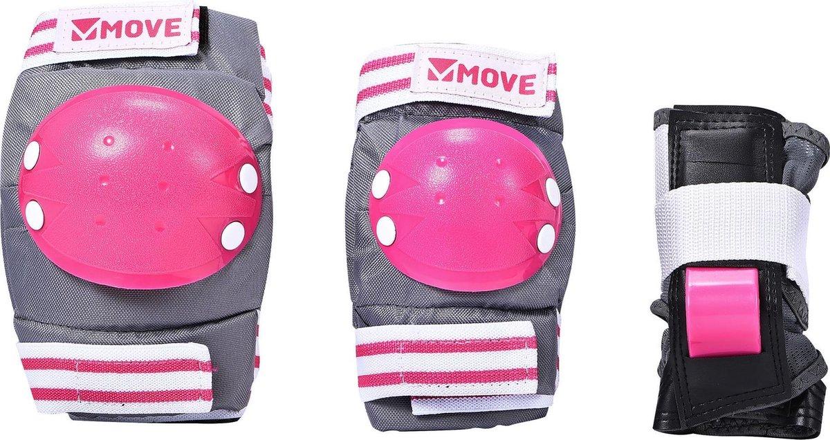 Move Skate Bescherming 3-delig Basic Roze One-size