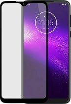 Azuri Tempered Glass flat RINOX ARMOR - zwart frame  - Motorola One Macro
