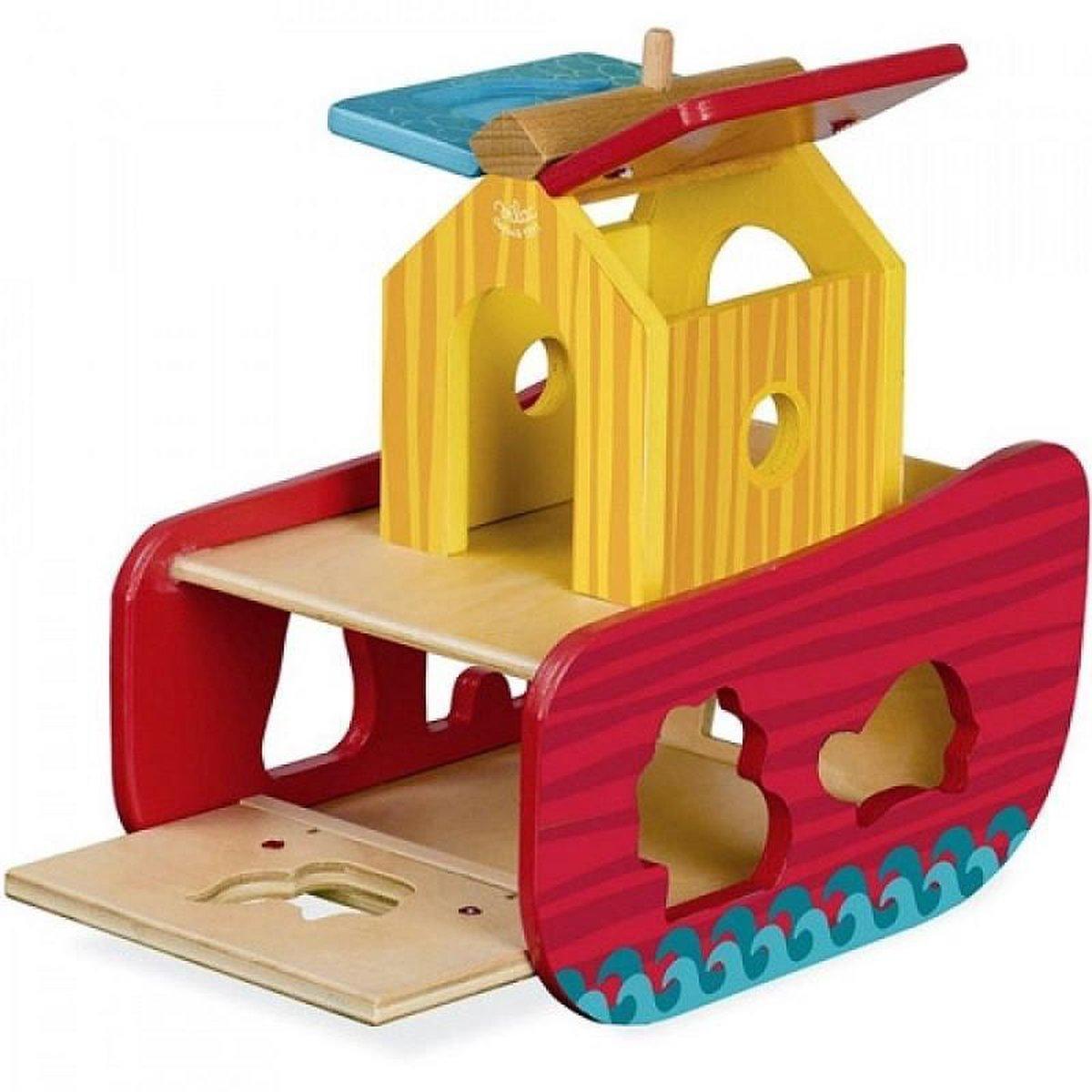 janod houten vormendoos klokhuis | ilovespeelgoed.nl