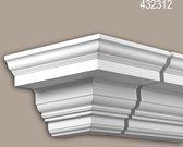 Buitenhoek Profhome 432312 Exterieur lijstwerk Hoeken voor Wandlijsten Gevelelement tijdeloos klassieke stijl wit