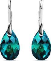 Yolora dames oorbellen met Swarovski kristal hanger – Echt zilveren oorhangers, 925 sterling zilver – Druppel - YO-170