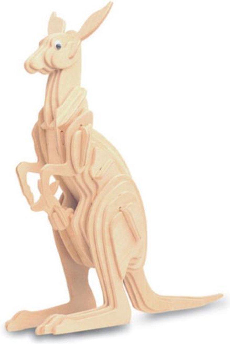 Bouwpakket 3D Puzzel Kangoeroe - hout