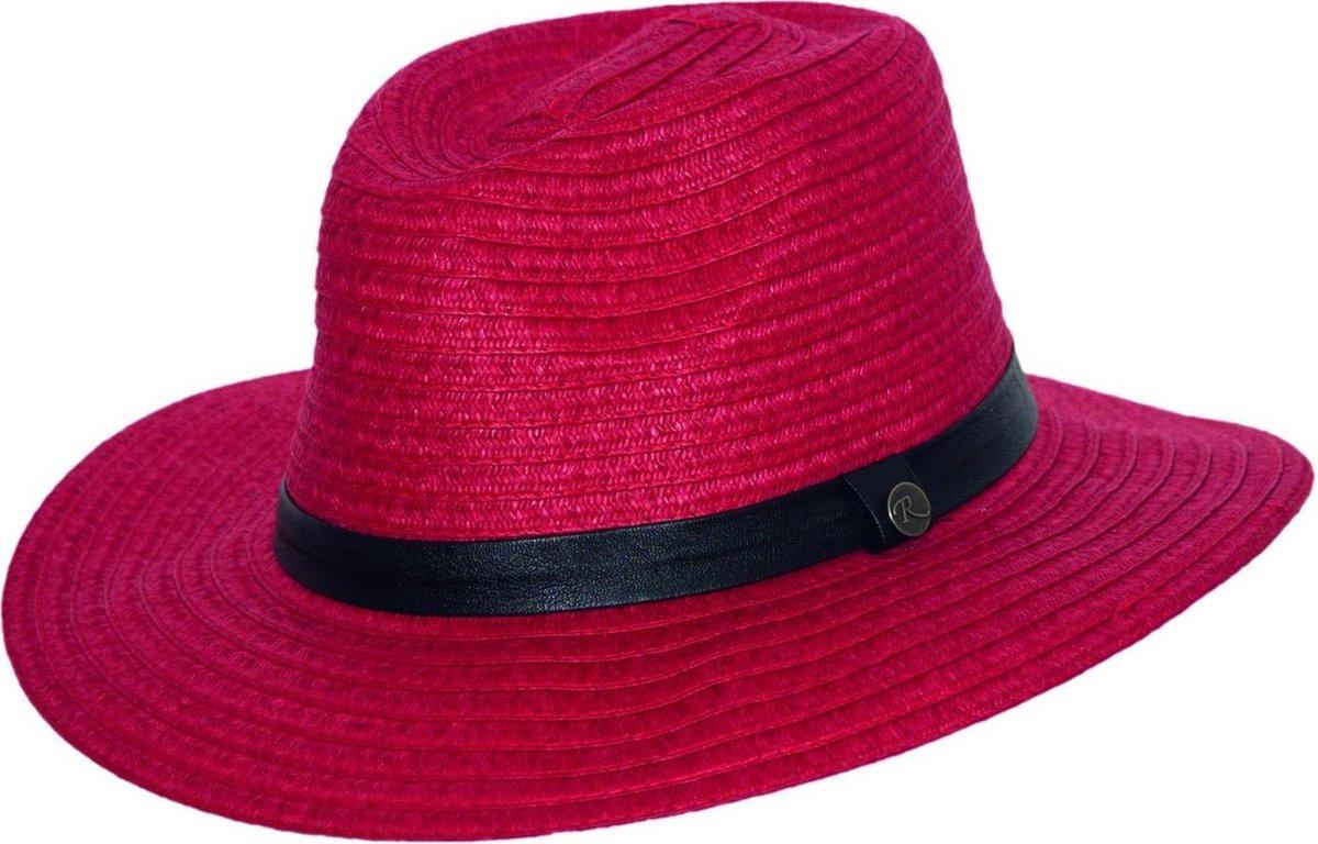 Rigon UV fedora Hoed Dames - Rood - Maat 58cm