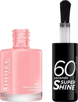 Rimmel London 60 seconds supershine nailpolish - Ring A Ring O Roses - Soft Pink