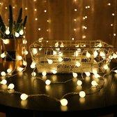 LED Slinger Lichtjes -  3 Meter - 20 Kleine Lampjes - Warm wit - Incl. 2x AA-Batterijen