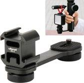 Ulanzi PT-3 Triple Cold Shoe Mount voor Gimbal, Camera en Smartphone Rig