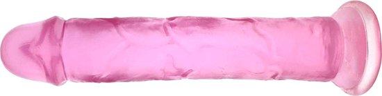 Roze Dildo - 20 cm lang, 4 cm doorsnee - Met sterke zuignap