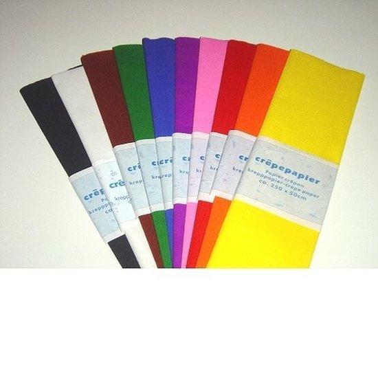 Crepe Papier 250x50 cm 10 Kleuren