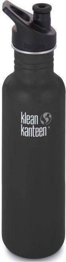 Klean Kanteen Classic Drinkfles Sportcap - Shale Black - 800 ml