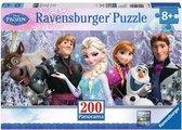 Ravensburger puzzel Disney Frozen. Arendelle in het eeuwige ijs. Panorama - Legpuzzel - 200 stukjes