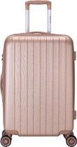 Decent Tranporto-One Medium Koffer - 66 cm - TSA slot - Salmon Pink
