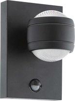 EGLO Sesimba 1 - Buitenverlichting - IP44 - Wandlamp - 2 Lichts - Zwart - Helder