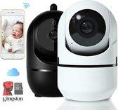 Babyfoon security- bewakingscamera - Veiligheid - 1080P HD - Kwaliteit - 360 graden camera - Nightvision - beweging en geluid detectie melder - Two-Way Audio - App - Nederlandse handleiding - Gratis Kingston SD kaart - Cloud - CE certificaat