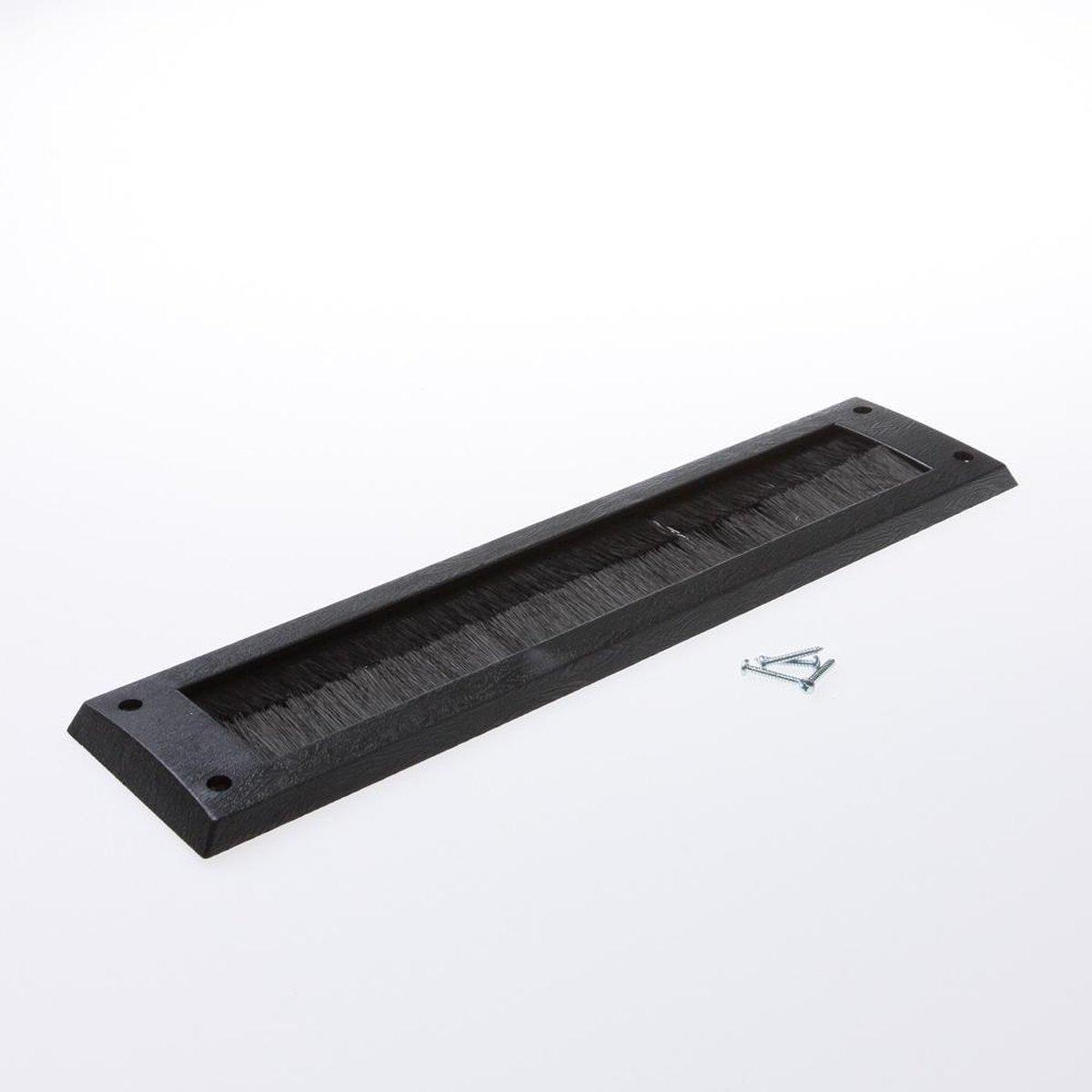 Gezu borsteltochtplaat - voor briefplaat 340x83 mm - zwart