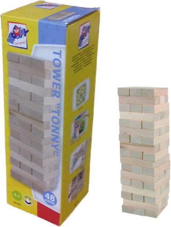 Afbeelding van het spel Stapeltoren hout 48 stukjes