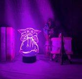 Baby Yoda Nachtlamp. Star Wars lamp Baby Yoda lamp. Mandalorian lamp. Mandalorian cadeau lamp.