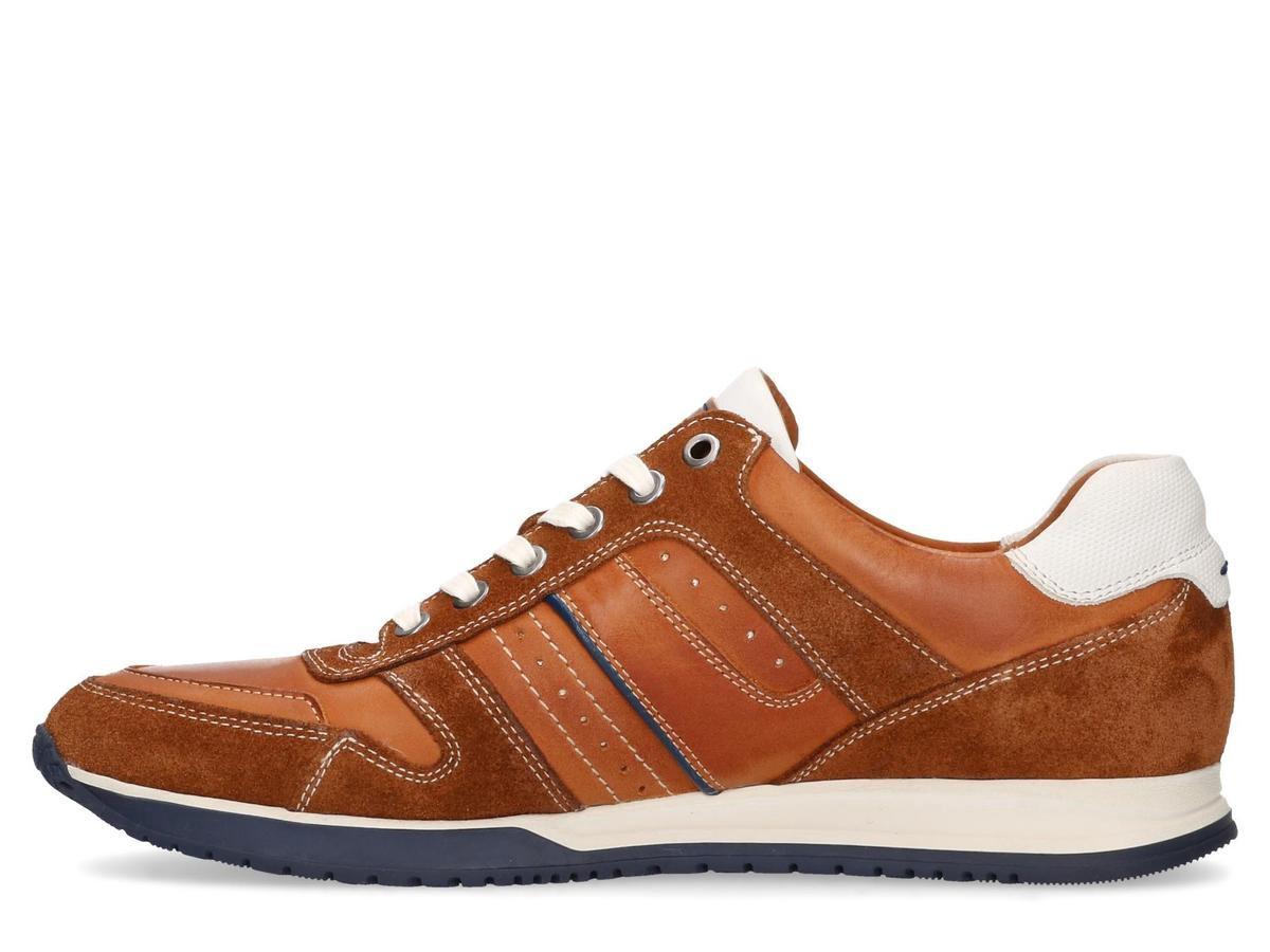 Barletta Sneakers Cognac Wit Heren Sneakers - Wit - maat 41 Sneakers