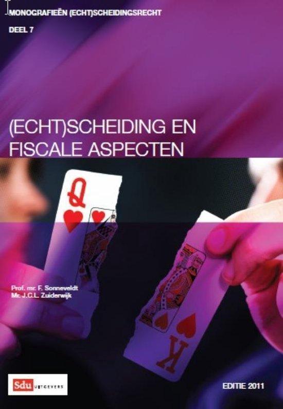 Cover van het boek '(echt)scheiding en fiscale aspecten' van F. Sonneveldt