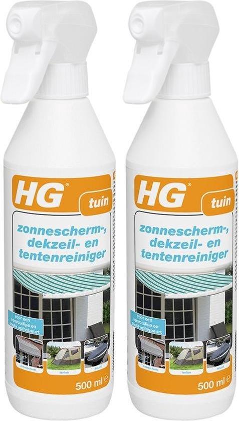 HG zonnescherm-, dekzeil- en tentenreiniger - 2 Stuks !