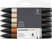 Winsor & Newton promarker brush™ Skin tones 6 set