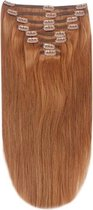 Remy Human Hair extensions Double Weft straight 15 - rood 30#