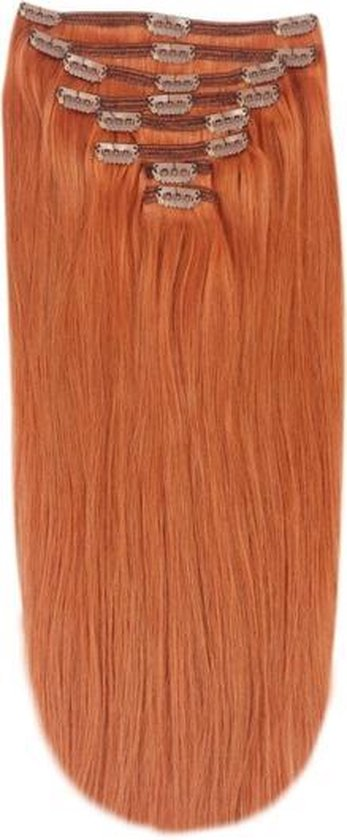 Remy Human Hair extensions Double Weft straight 15 - rood 350#