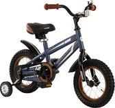 2Cycle Sports Kinderfiets - 12 inch - Grijs-Blauw - Jongensfiets