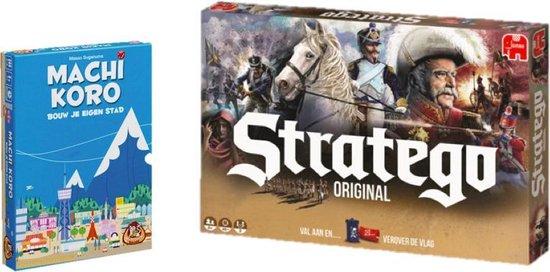 Afbeelding van het spel Strategisch spelvoordeelset Machi Koro & Stratego Original - Bordspel