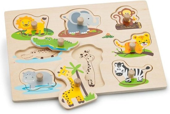 New Classic Toys - Vormenpuzzel - Safaridieren