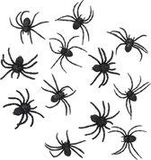 BOLAND BV - 12 Halloween spinnen - Decoratie > Tafeldecoratie beeldjes