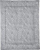 Meyco Zebra geweven boxkleed - 80x100cm - grijs