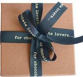 Belgische chocolade - ambachtelijke bonbons - melkchocolade gevuld met pinda- en hazelnoot-praliné - 18 stuks - 200 gram