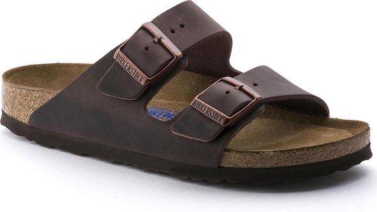 Birkenstock Arizona Nubuck Habana smal Unisex Slippers – maat 40