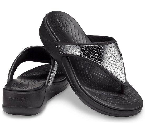 Crocs Slippers - Maat 38/39 - Vrouwen - zwart/zilver 4FFvNPcM