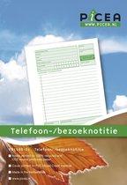 Picea bedrijfsformulier: Telefoon- / bezoeknotitie A5