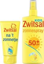 Zwitsal Voor en Na 't zonnetje - Zonnespray 200ml + Aftersun 150 ml - Zonnebeschermingsset