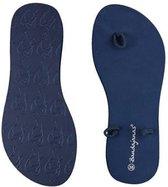 Lage Bandajanas slipper, blauw, maat 36