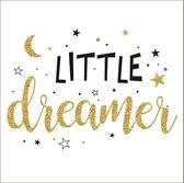LITTLE DREAMER Ingelamineerd beeld zonder glas 30x30 cm kleine dromer