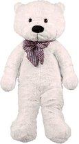 Grote knuffelbeer 100cm Wit teddybeer knuffel