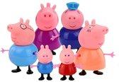 Peppa Pig Familie - Complete Gezin + Opa en Oma - 6 stuks - Speelfiguren - Peppa Big - George Pig